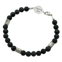 Mans Blackstone Memorial Bracelet with Engraving